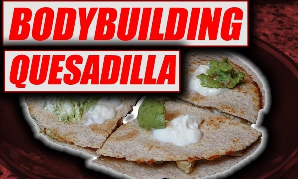 High Protein Chicken Quesadilla cooking video