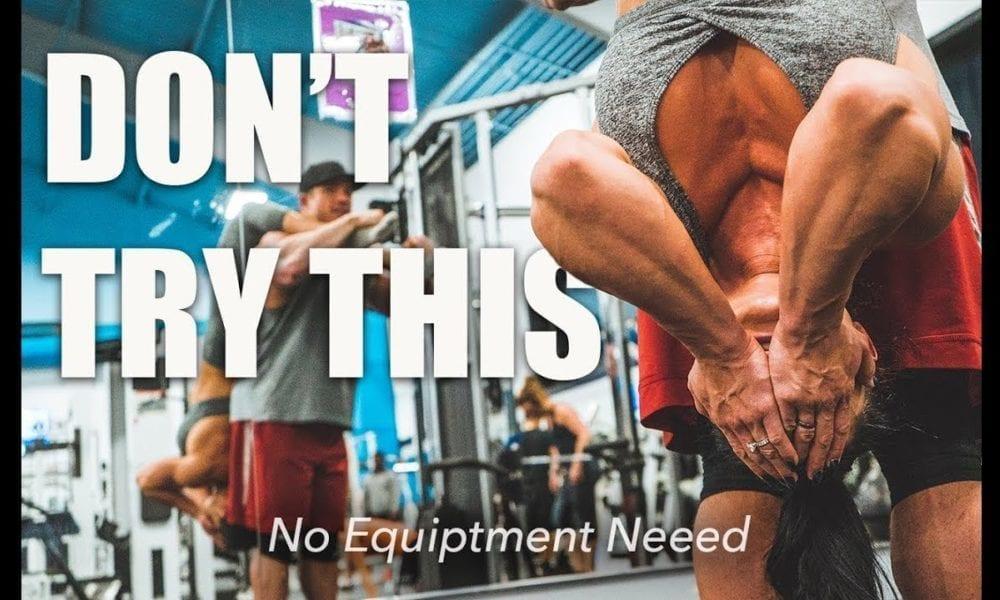 Bodyweight Bodybuilder Couple Workout
