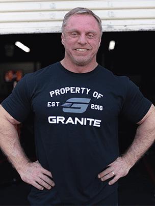 Granite supplements shirt black John Meadows