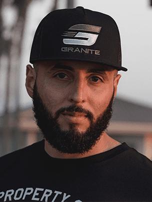 granite supplements black trucker hat